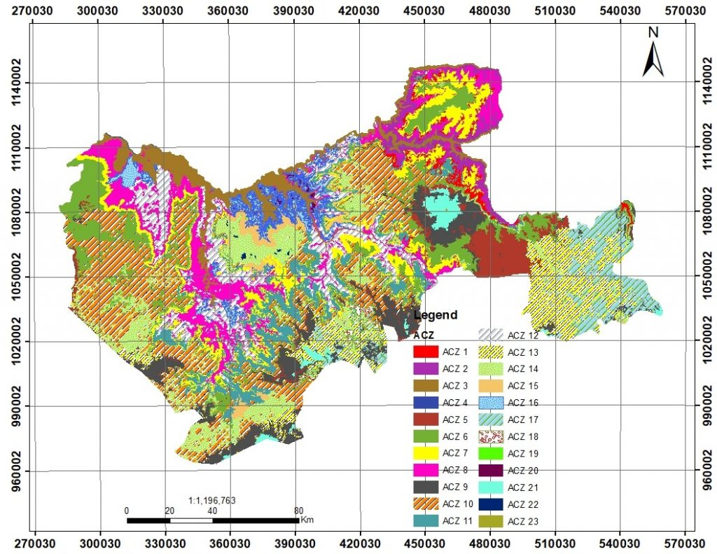 Agro-climate map for Guder Abay sub watershed