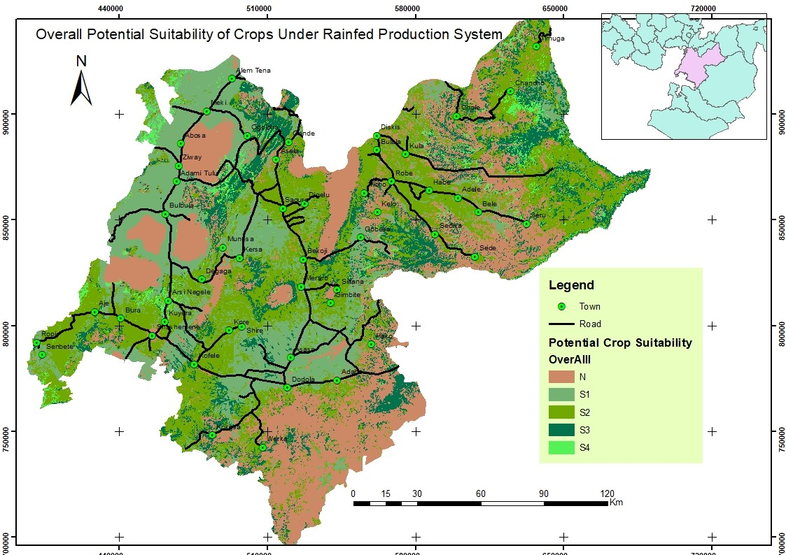 Overall Potential Suitability of Crops under Reified Production system